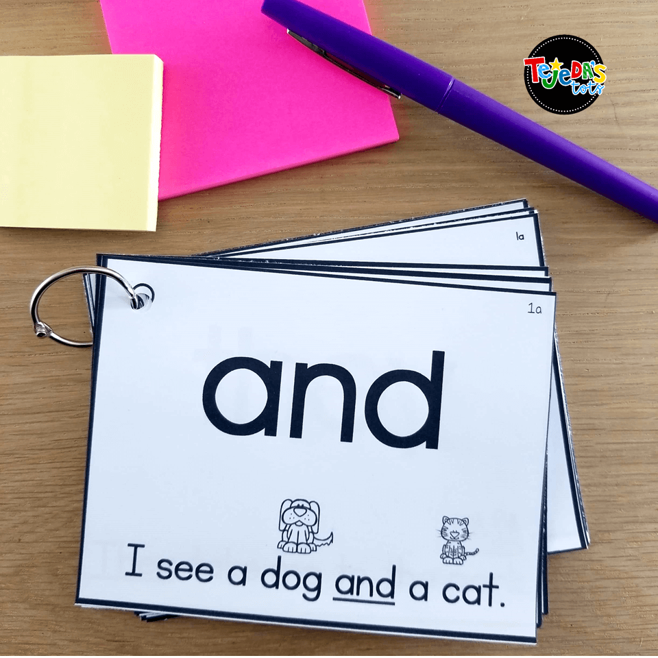 Sight Word Sentence Flashcards are a great way to warm up for guided reading. Students take the color-coded set they are working on and practice reading them fluently while waiting for our guided reading lesson to start! #tejedastots #sightwords #guidedreadingwarmup