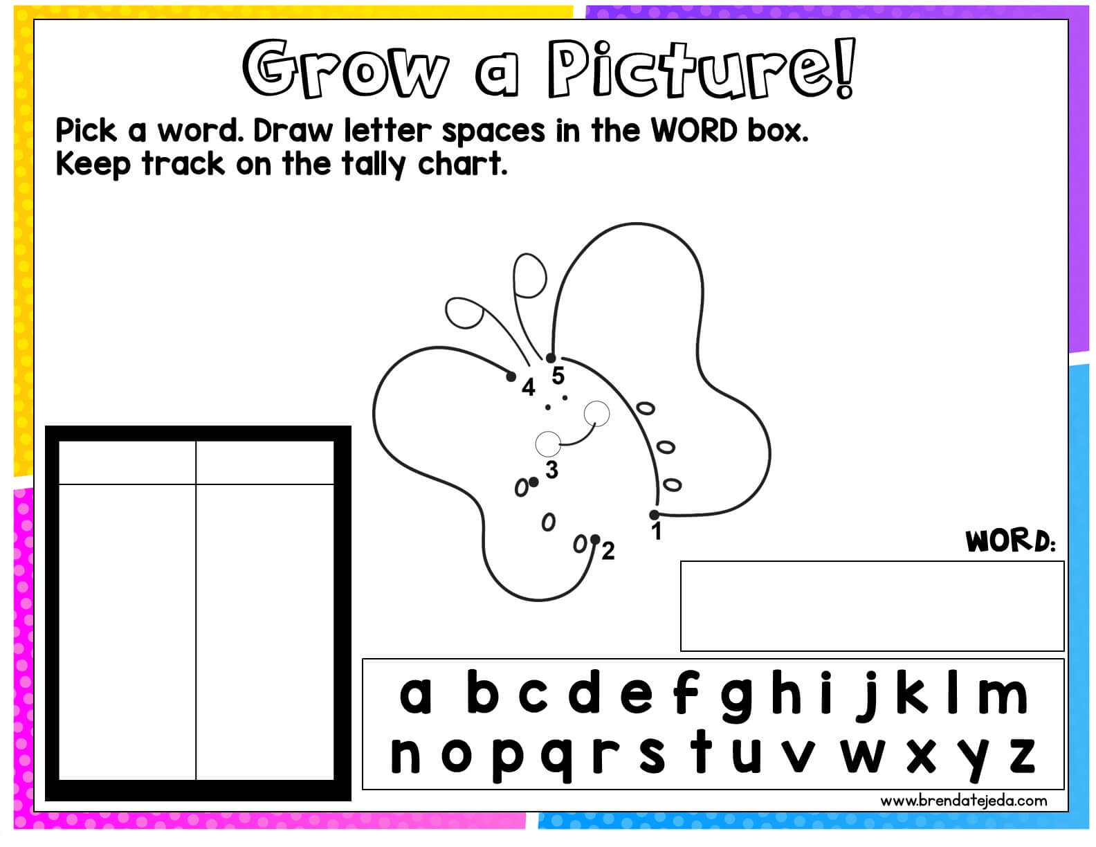Free sight word game for your interactive whiteboard. This game is similar to hangman, but kids draw to connect the dots if they guess an incorrect letter. Perfect for sight word review when you have an extra 5 minutes! Kindergartners, first grade and second grade students love playing games and this is a great activity to practice sight words in an engaging way! Also included is a student version for use during literacy centers. #tejedastots