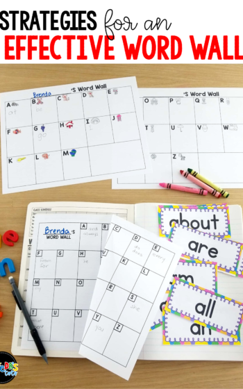 Do your students use your word wall effectively? When kids write, they often misspell sight words that have already been taught and are posted in your room, completely ignoring your word wall. This blog post shares ideas for creating a word wall your students will refer to often! It has tips for reviewing the sight words weekly and includes a free class word wall, plus individual differentiated word walls for personal use! Keep your students accountable for spelling sight words accurately using the strategies in this post. #tejedastots #wordwall