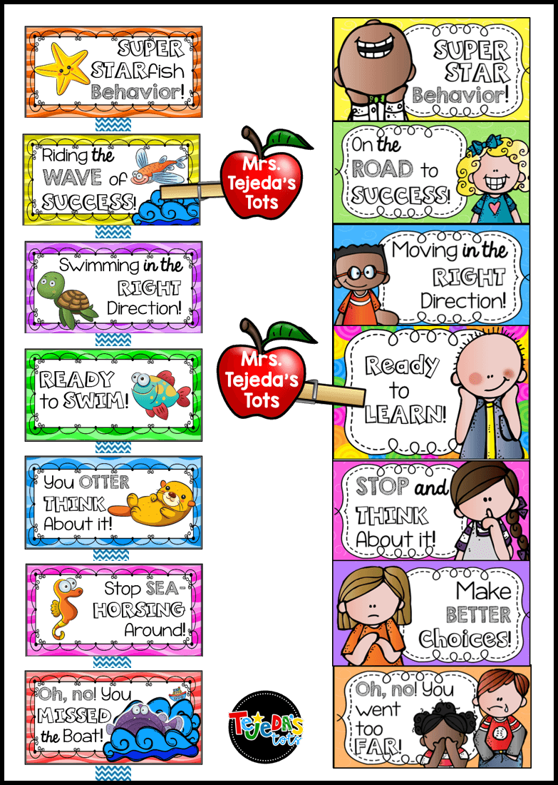 I like to use a clip chart for behavior management, but instead of each student having their own clip, I use one for the entire class. This eliminates calling out particular students and promotes working as a team and helping each other to clip up! Read this blog post for my complete behavior management system. #tejedastots #behaviormanagement #clipchart