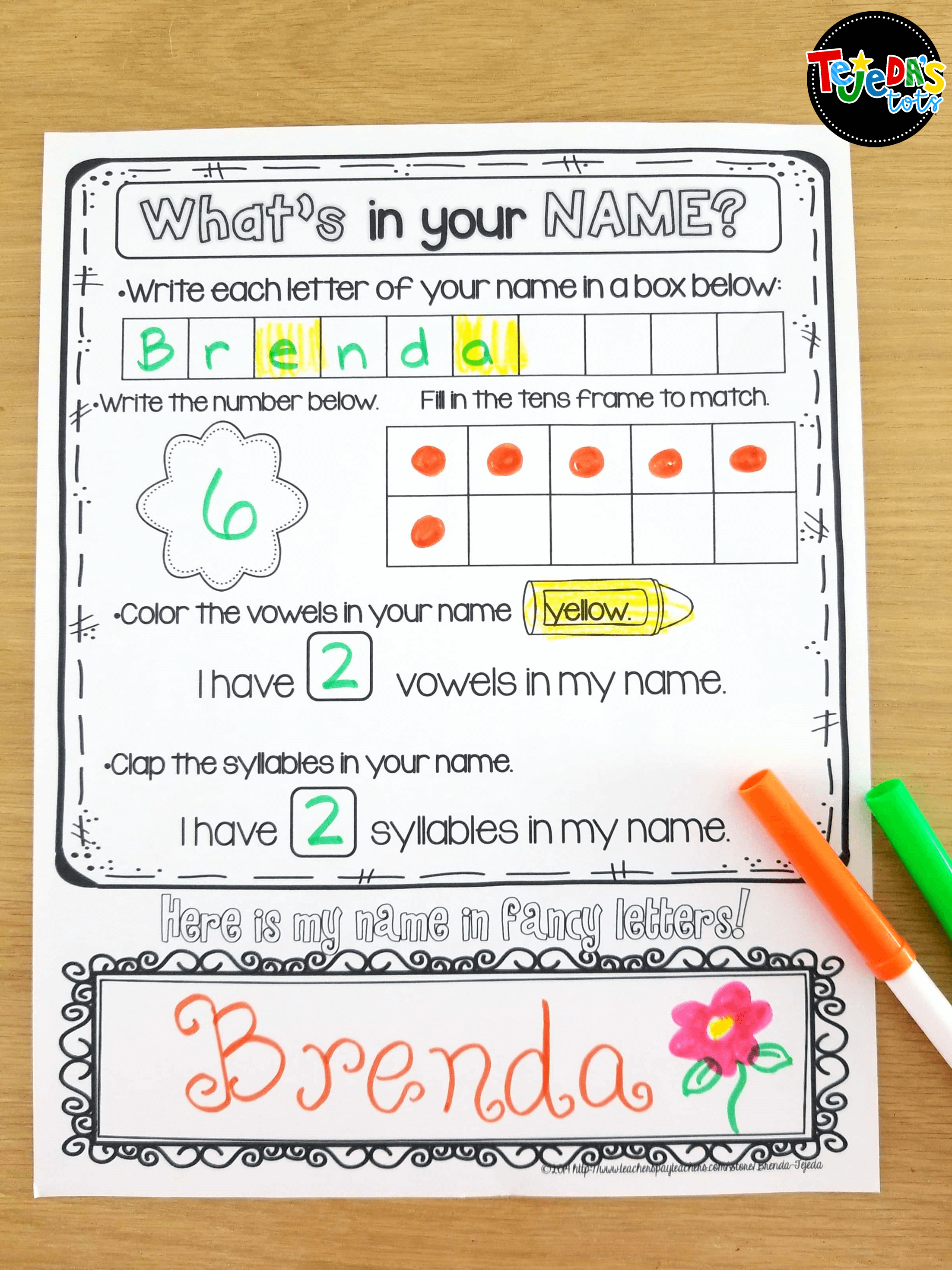 Free name printables to go with the book Chrysanthemum by Kevin Henkes. This blog post has ideas for what to do on the first day of school and includes freebies! #tejedastots #firstdayofschool