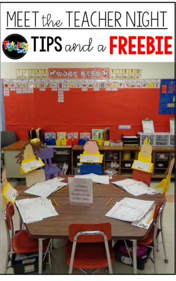 Stand-in students! So cute for Meet the Teacher Night! Have kids create themselves and use a ruler and tape to attach to seats. Parents try to find their child to find their seats. Read this post for more Meet the Teacher or Open House tips! #tejedastots