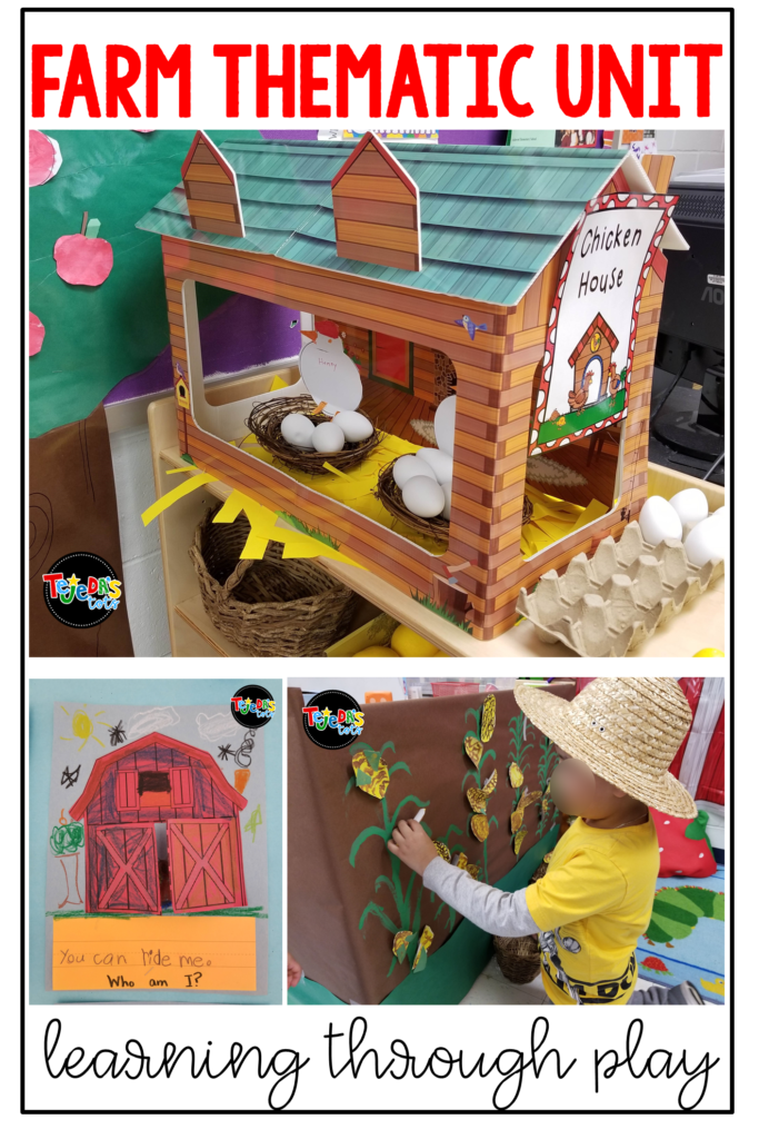 Get ready for a hayride of farm fun! This post has tons of ideas for integrating a farm unit across all content areas and creating a little farm corner in your classroom for structured play. #tejedastots #farmunitactivities