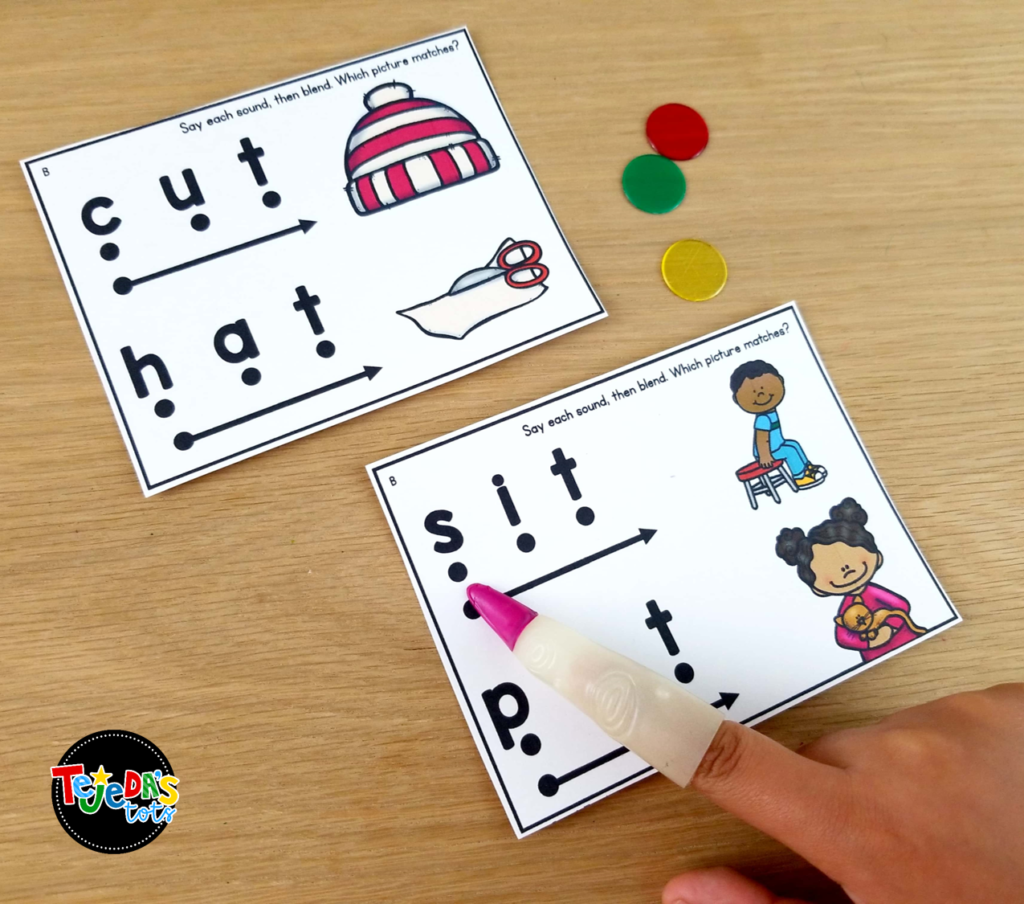 Use pointers and translucent bingo chips for guided reading to make it fun!