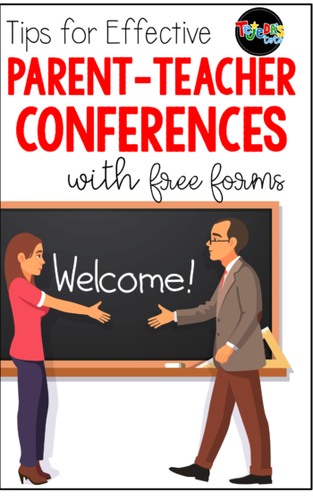 Tips for smooth, organized parent-teacher conferences! Includes free conference forms, parent letters, and comment ideas for report cards. #tejedastots #parentteacherconferences