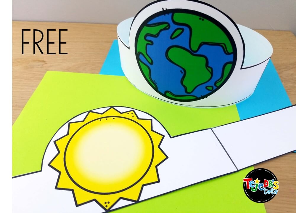 Grab these free headbands to help you act out the Earth's rotation when teaching about Leap Year! Read for tips on teaching your students about this once-in-4-years event!