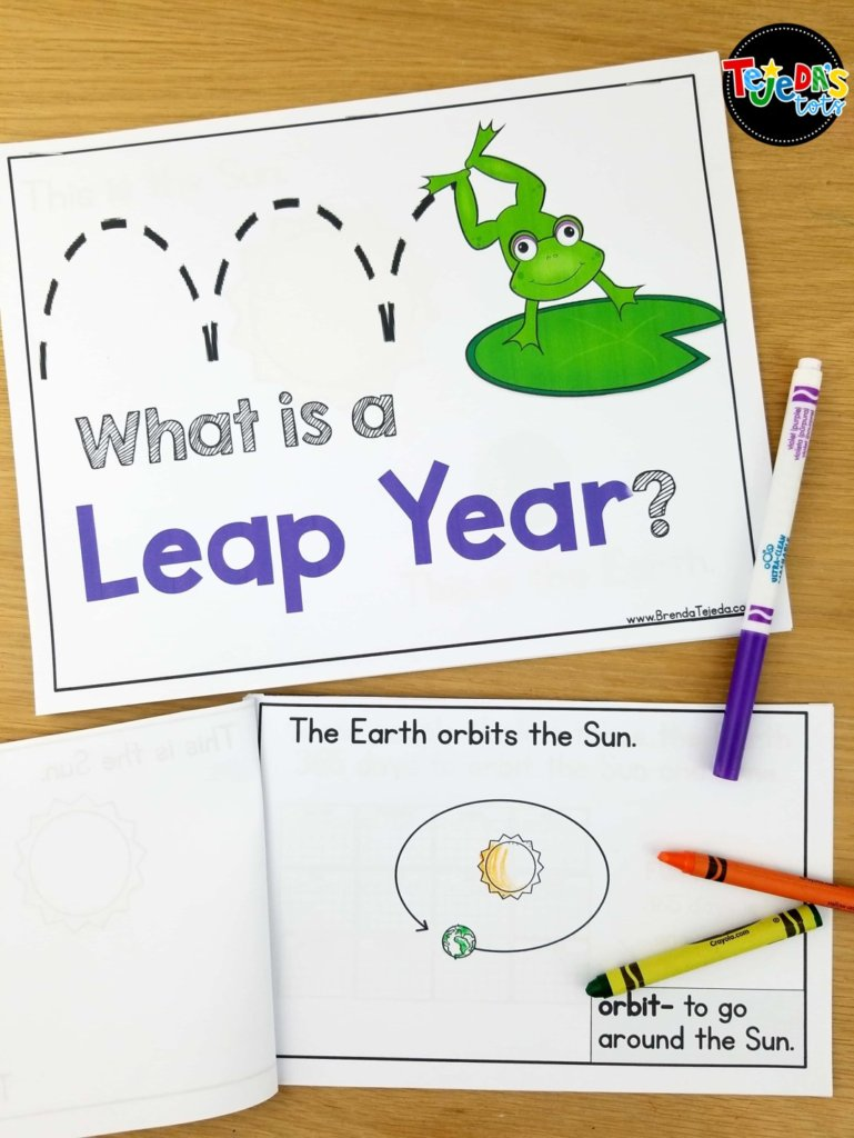 Learning about Leap Year is fascinating for kids. It may be hard to understand, but this book breaks it down and has a fun activity to role-play the event! Grab free headbands to help you act out the Earth's rotation when teaching about Leap Year! Read for tips on teaching your students about this once-in-4-years event!