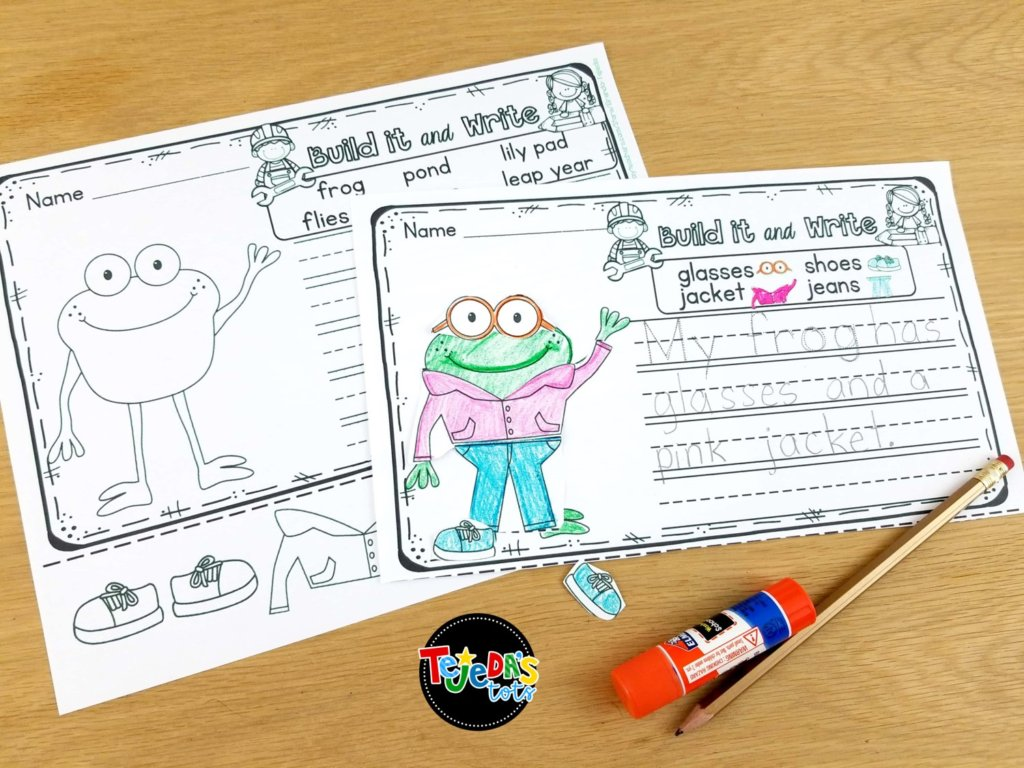 """Two of our favorite Leap Year activities are """"building and writing"""" a frog and learning about the frog life cycle! Read this blog post for more ideas on teaching about Leap Year in your classroom!"""