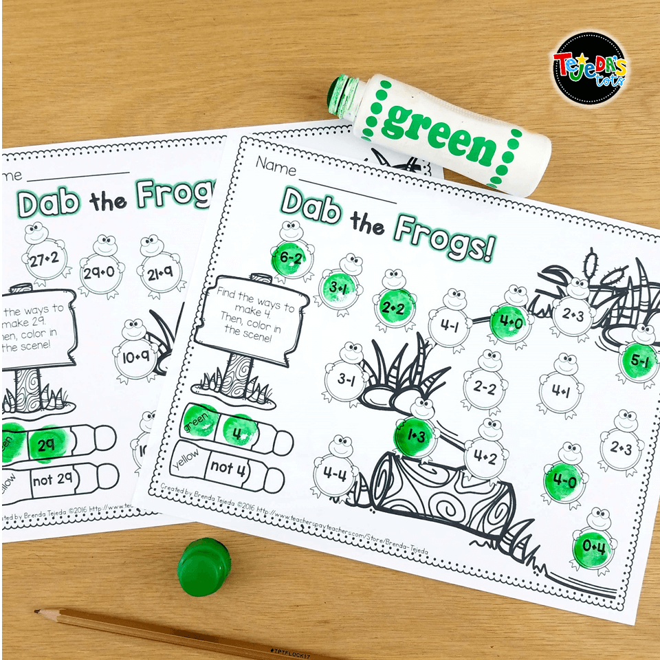One of our favorite Leap Year activities is dabbing ways to make 4 or 29! Read this blog post for more ideas on teaching about Leap Year in your classroom!