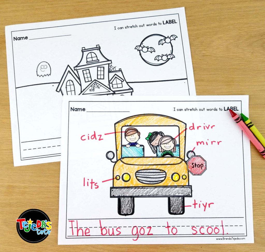 Labeling is such an important stage in writing. These writing activities provide differentiation so students at all stages of writing can feel successful and confident with spelling and writing. Great for centers and writing workshop and kindergarten and first grade.