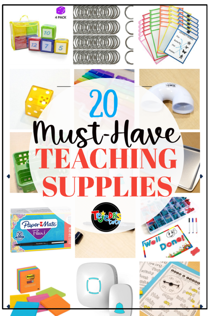 Get ready for back-to-school with these must-have teaching supplies! Amazon is a great source for school supplies and these are my favorite tools for centers, reading, writing, and organization. #classroomorganization #backtoschool #schoolsupplies