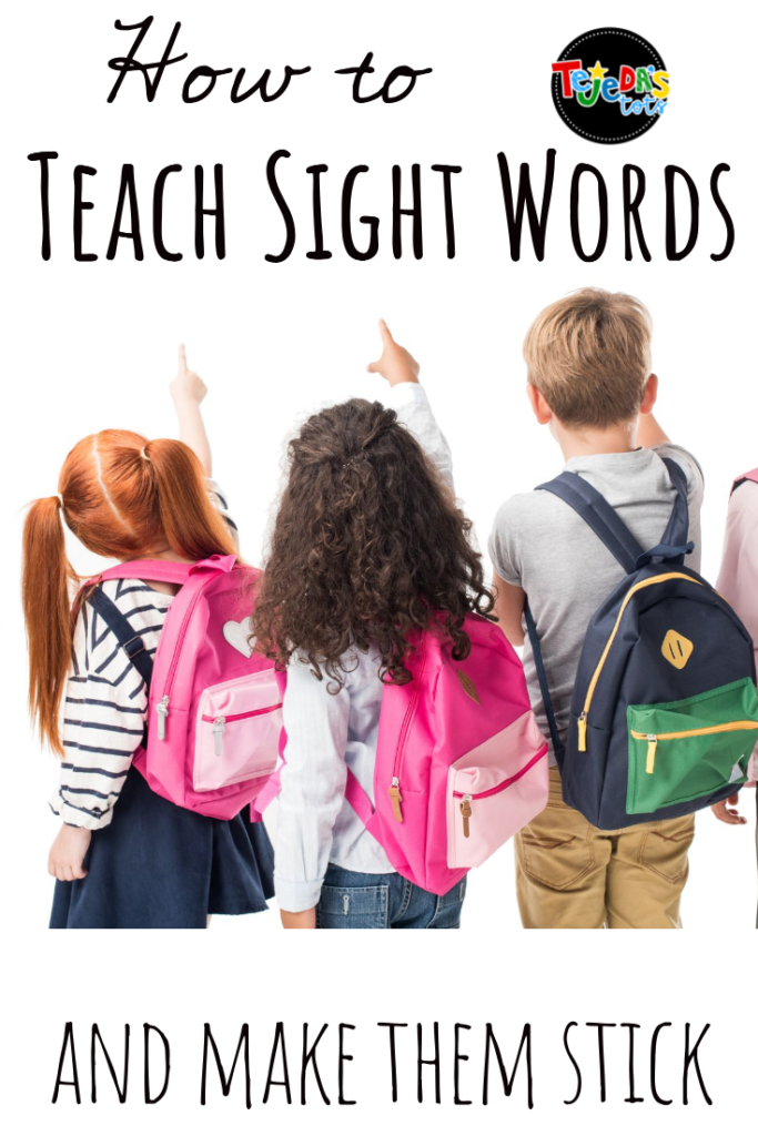 When teaching sight words, it's important that kids learn the letters that make up the word, the sounds of those letters, and the meaning of the word. Sight word instruction in context, with repetition and multisensory methods, is key to learning new words! #sightwords
