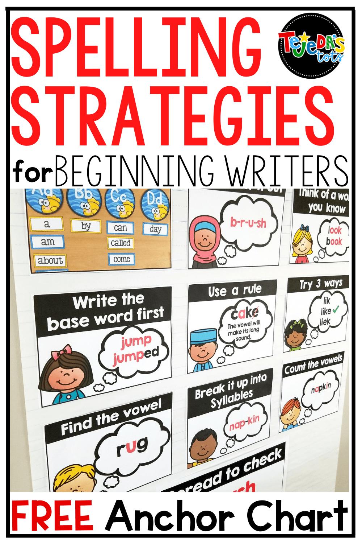Spelling Strategies for Beginning Writers