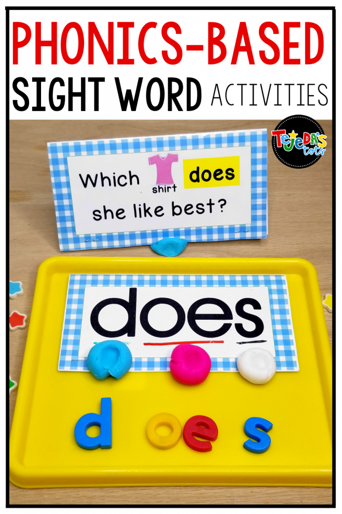 Most sight words are phonetic! So, phonics-based sight word practice just makes sense. Use these multisensory ideas to help boost your kindergarten and first-grade students' sight word bank. Activities for small-group instruction as well as centers!