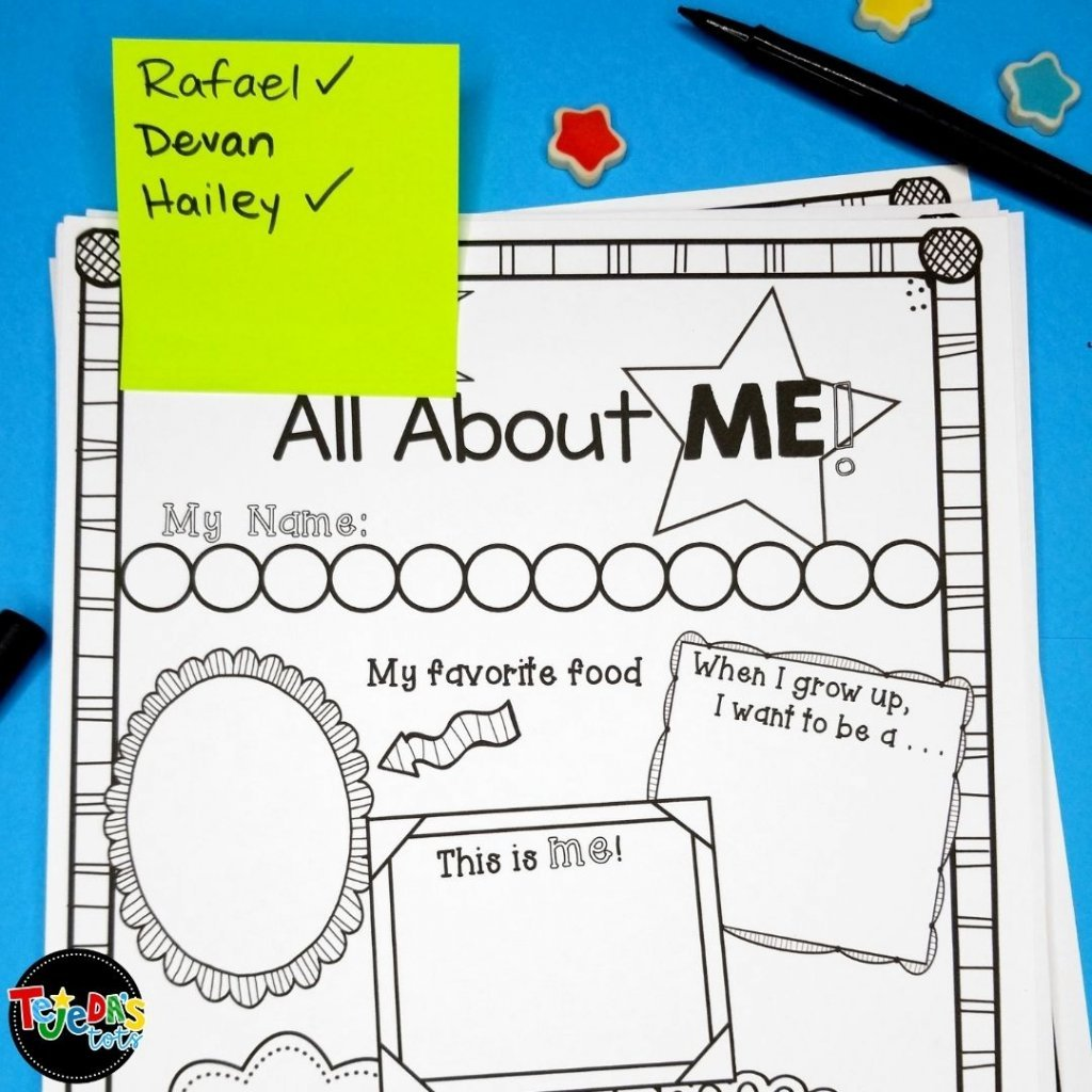 Keep track of which students need to complete work by jotting their names on a post-it. Stick it to the pages they need to finish and check their names off as they're completed.