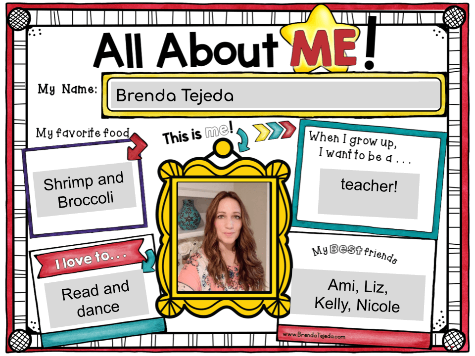 Grab this FREE All About Me template to make a class book or slideshow! It's great for the end of the year, but you can also make it at the beginning of the year and your students can enjoy reading the book throughout the year.