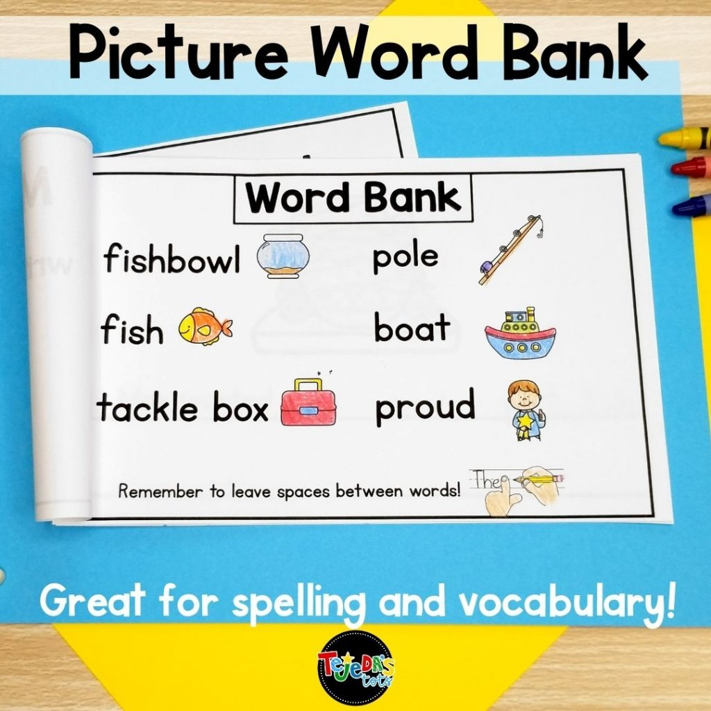 Use wordless books to help your emergent writers become more more confident. The picture word banks help kids with spelling and vocabulary. They also remind students to leave spaces between their words. These wordless books for writing are perfect for kindergarten and first-grade students.