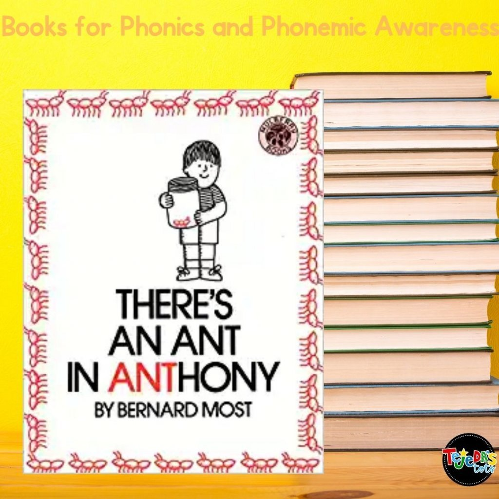 Here's a great book for finding chunks in words! In this book, Anthony realizes that his name has a small word inside. Soon, he finds the word/chunk ANT in many words. The word ANT is highlighted in red so kids can clearly see it inside the other words. Read this post for more great picture books for teaching phonological awareness and phonics.