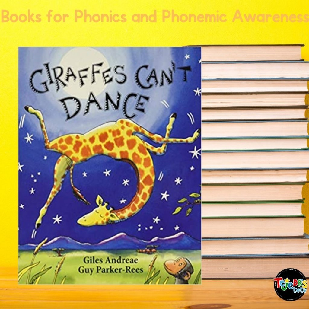 Besides having great messages about being yourself, it's ok to be different, and everyone has a special talent, this book is fun to read for its rhyme and rhythm! It's about a giraffe who doesn't know how to dance but with the help of a little cricket, finds that he's good at his own unique dance. Leave off the last rhyme on each page and have kids call it out for fun interaction! Read this post for more great picture books for teaching phonological awareness and phonics.