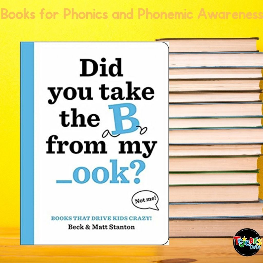 Adorable picture book for phonemic awareness! The author loves the letter B but when he sneezes, the Bs disappear from all the words! SO the book is left with -utterfly and other words missing the letter B, until the end where the kids call for the letter B and it returns. So fun and interactive! Great for isolating the beginning sounds in words.