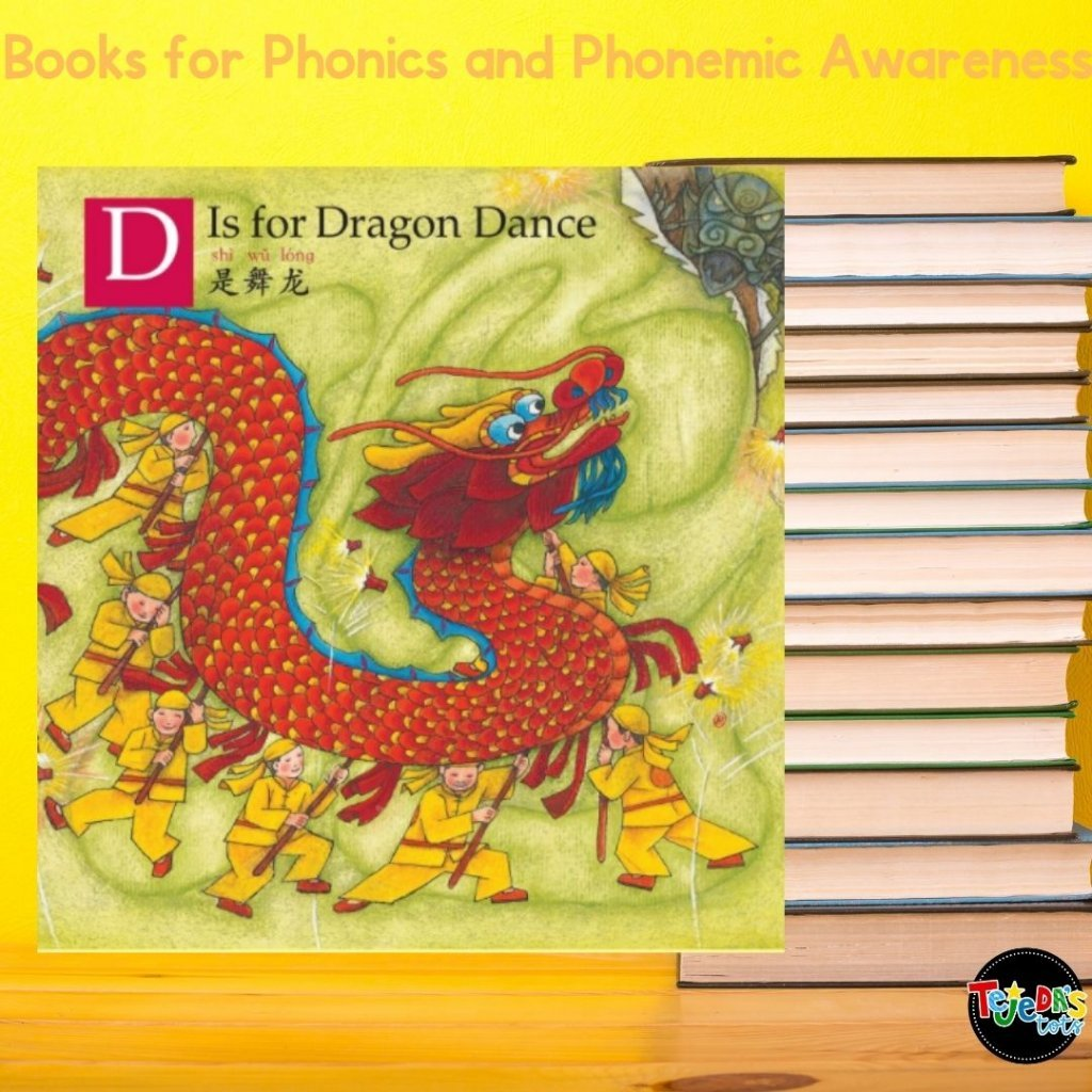 Any time you can incorporate learning about different cultures into a read-aloud is a big plus! D is for Dragon Dance goes through the alphabet while introducing the traditions of Chinese New Year! Read this post for more great picture books for teaching phonological awareness and phonics.