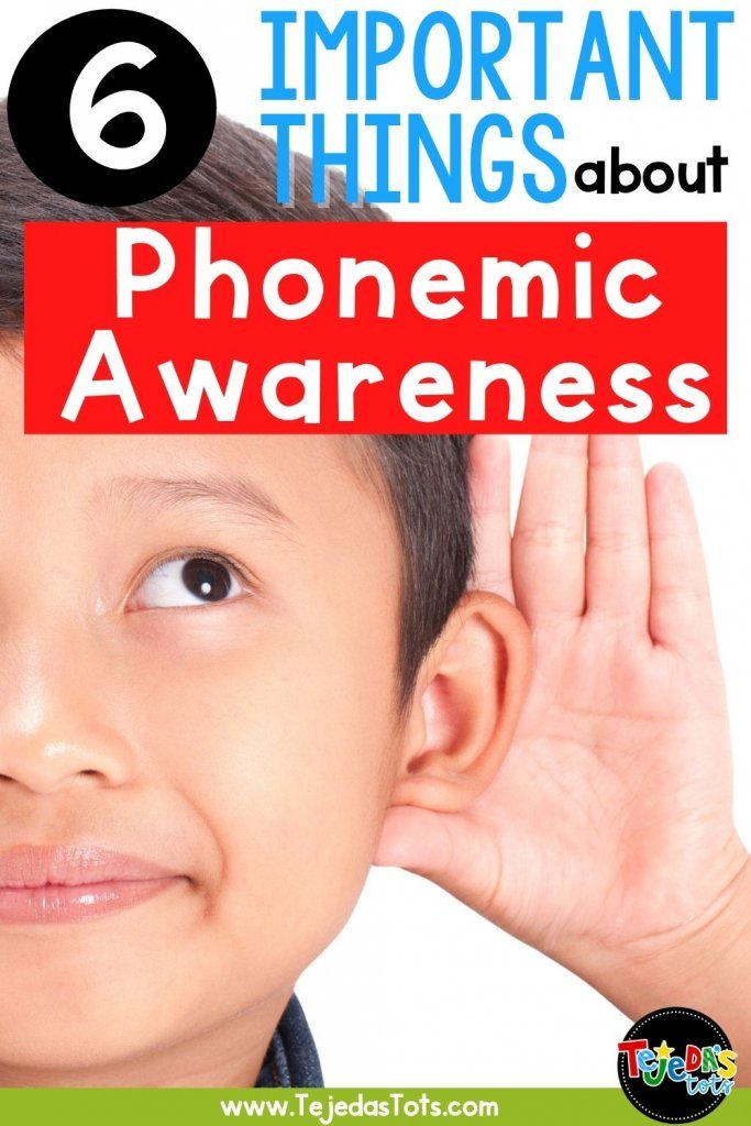 """Did you know that phonemic awareness is one of the best predictors of reading success? And even though it can be """"done in the dark,"""" that doesn't mean it has to. It's so important to make sure our students get enough practice with phonemic awareness along with phonics instruction. Here are some important things to know about phonemic and phonological awareness!"""