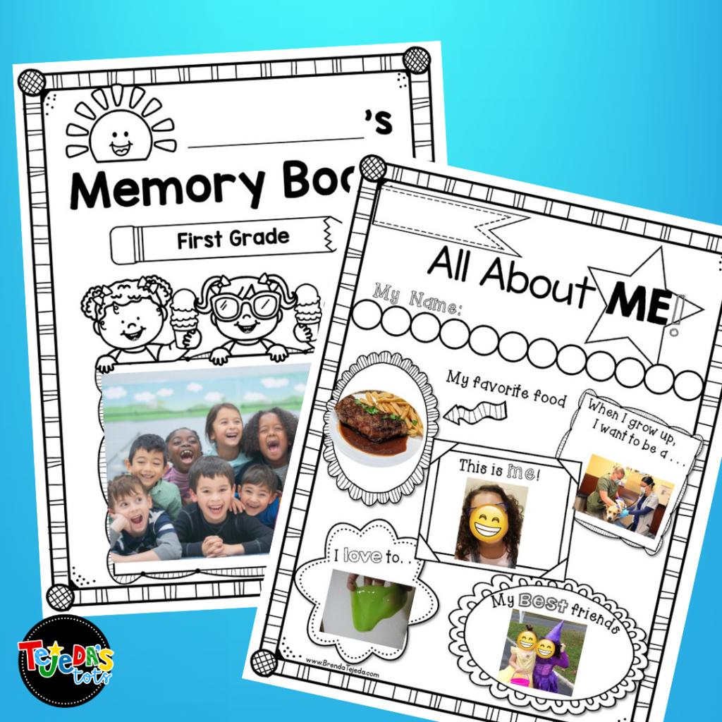 FREE All About Me pages to use at the beginning and end of the year. I loved seeing how my students changed and progressed in writing throughout the year using my yearlong scrapbook. I also used this as a writing portfolio in kindergarten and first grade. At the end of the year, we invited parents to come in and we shared our portfolios with them!