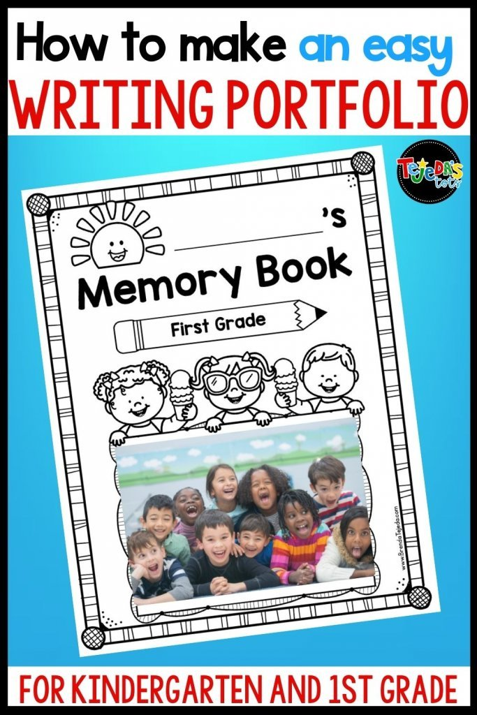 You don't have to wait for the end of the year to make a memory book! Make a yearlong scrapbook that doubles as a writing portfolio for kindergarten and first grade! It's so great to see how your students' writing progresses throughout the year and doing this little by little avoids trying to cram it all in at the end (which results in rushed and poor quality writing!). Read this post for some tips to make it easy and save you time.